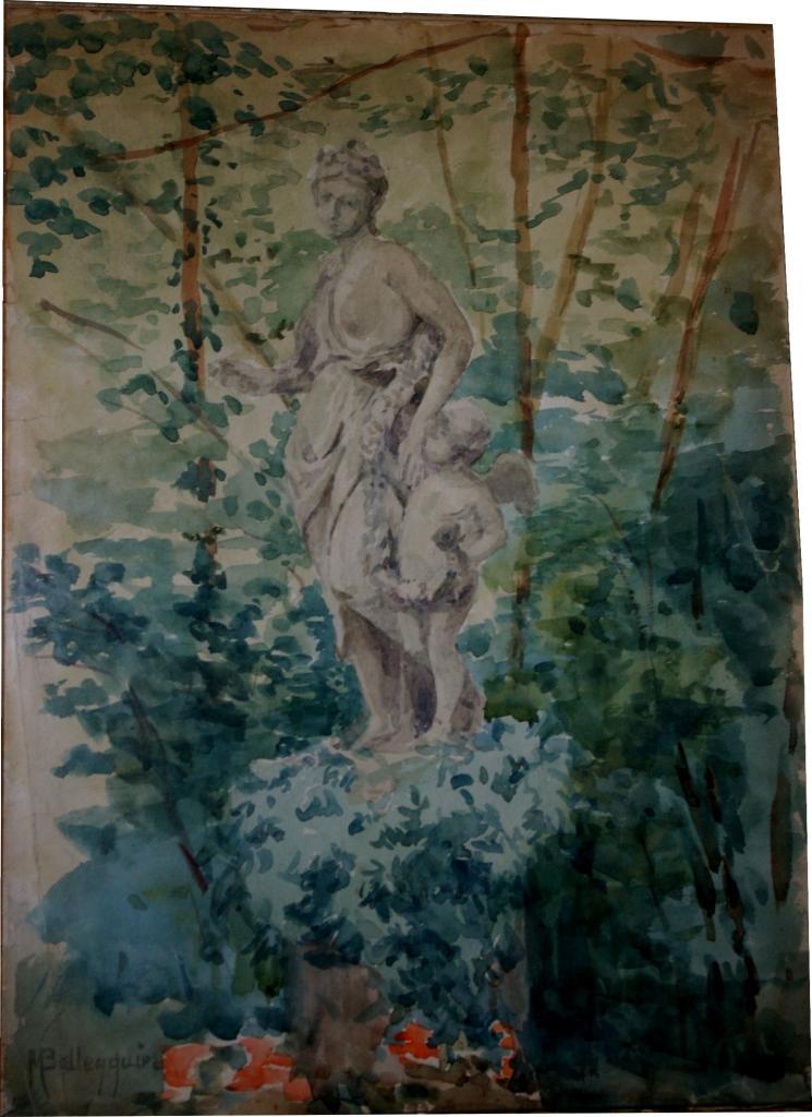 Quetigny, les Cèdres :Aphrodite et un amour