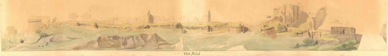 Dessin du site en 1884. Georges Balleyguier