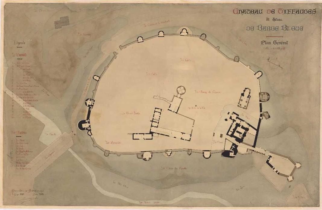 Plan d'ensemble du site. 1885.