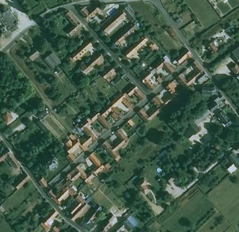 Image satellite de la cité agricole (Google earth)