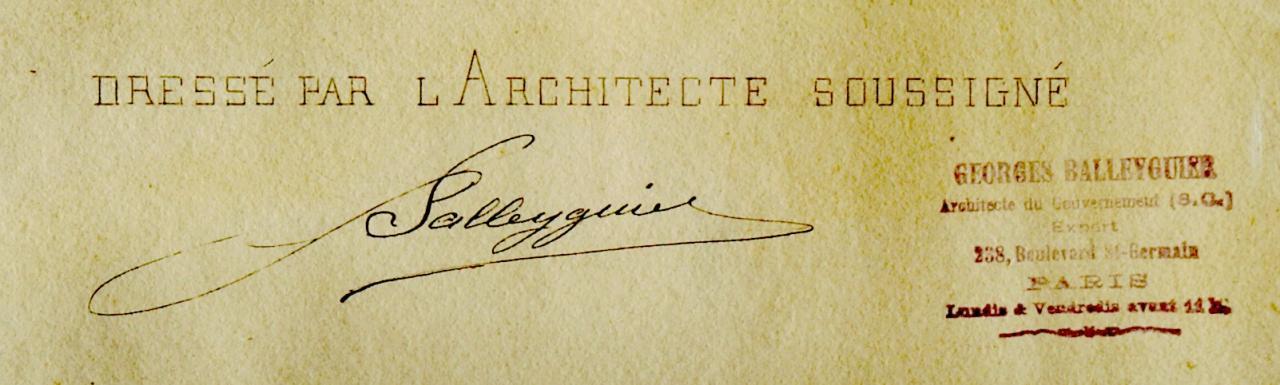 Signature du plan