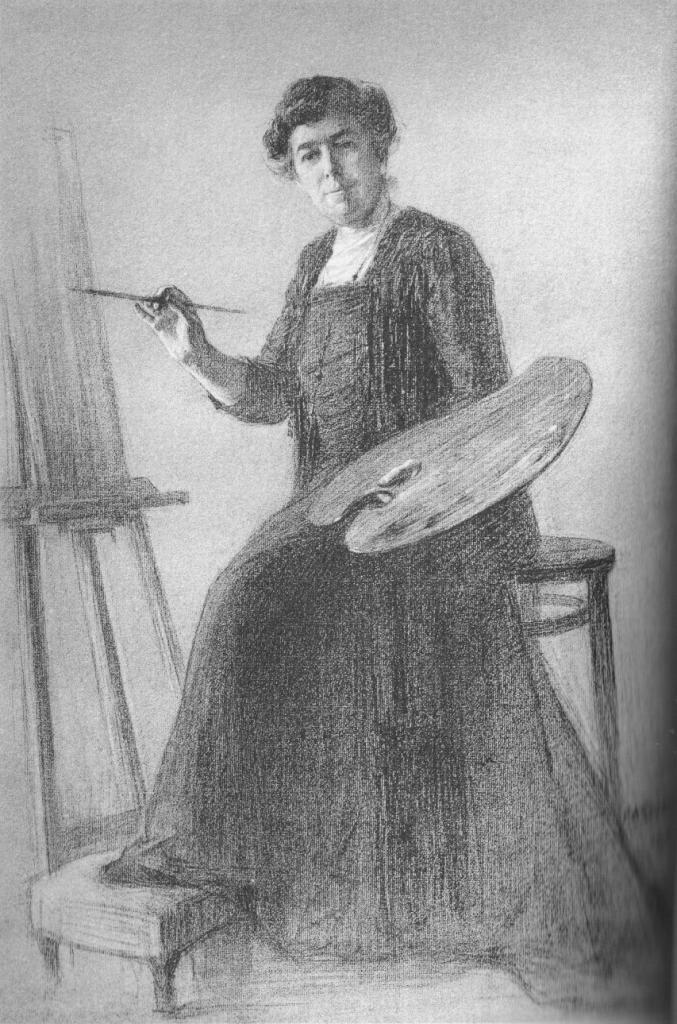 Mélanie, 1917. Illustration du livre Ma petite patrie...