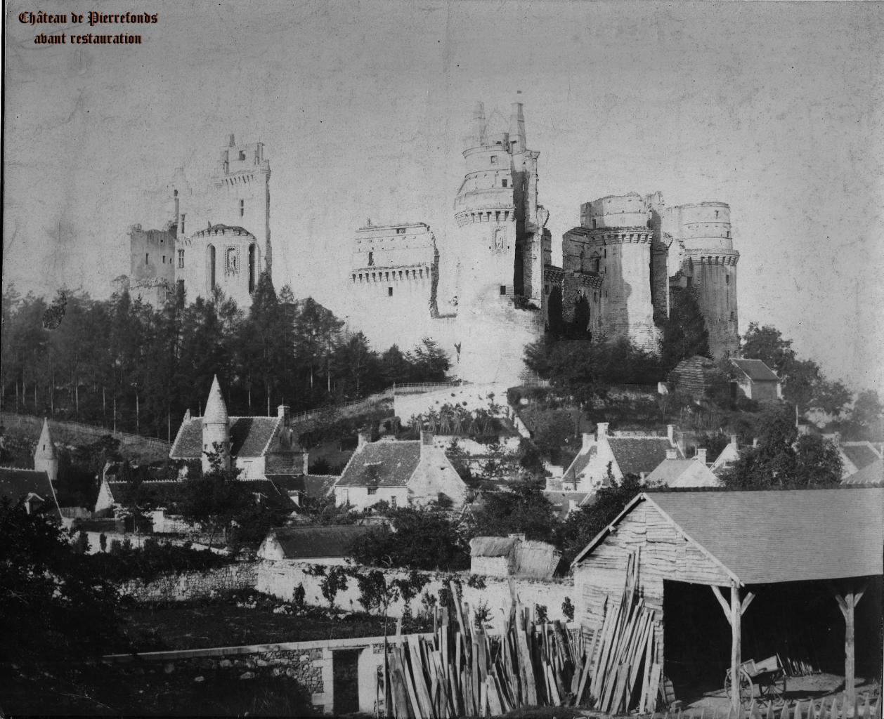 Château de Pierrefonds avant restauration