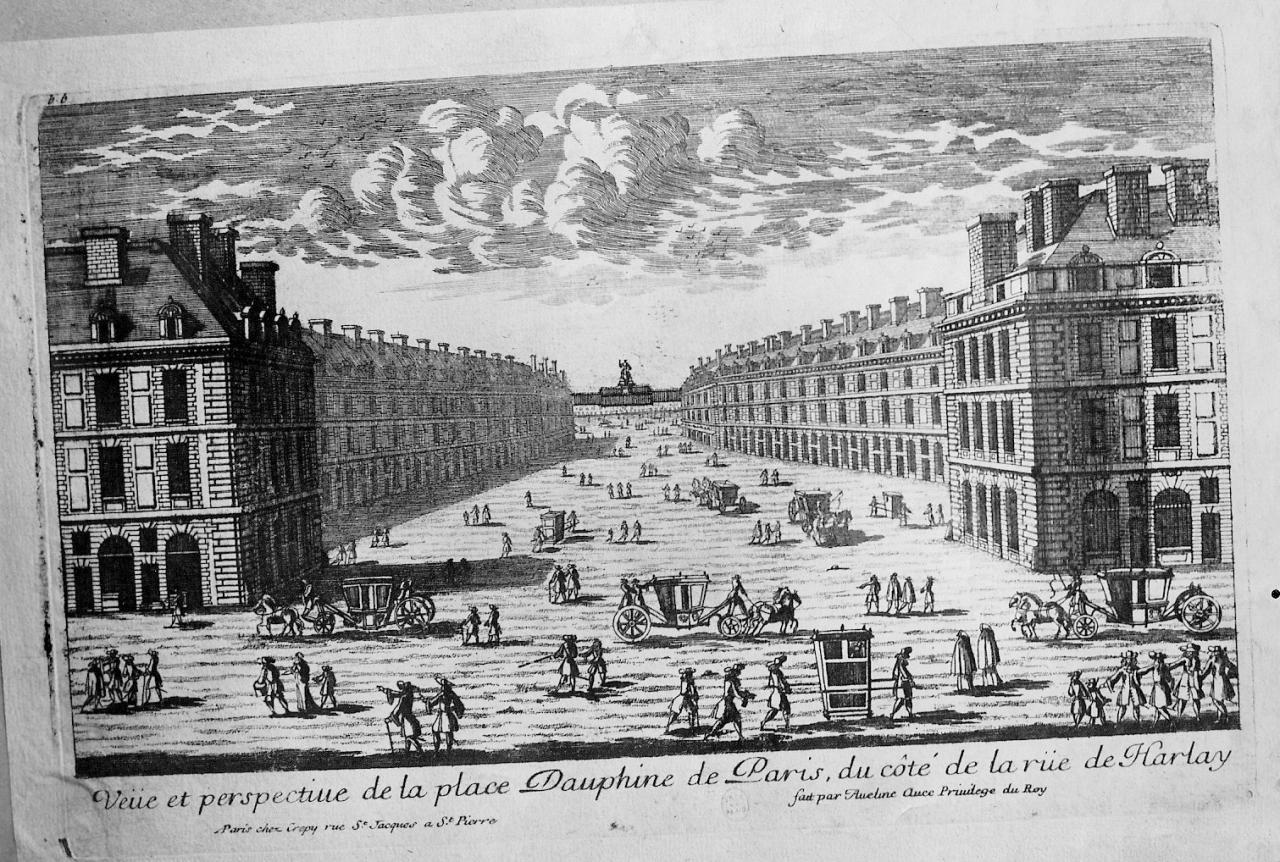 Place Dauphine par Ameline. 1680