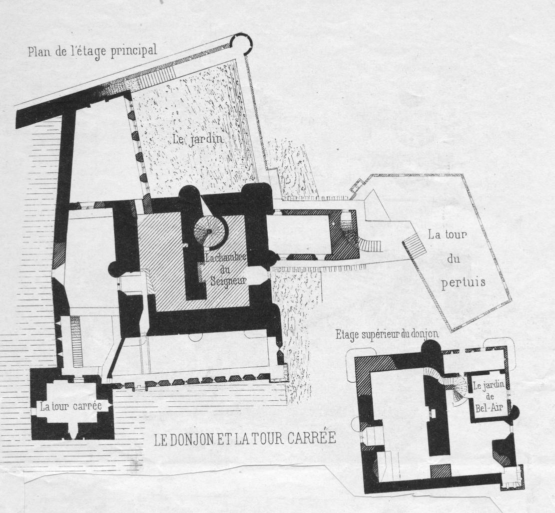 plans Donjon et tour Carrée