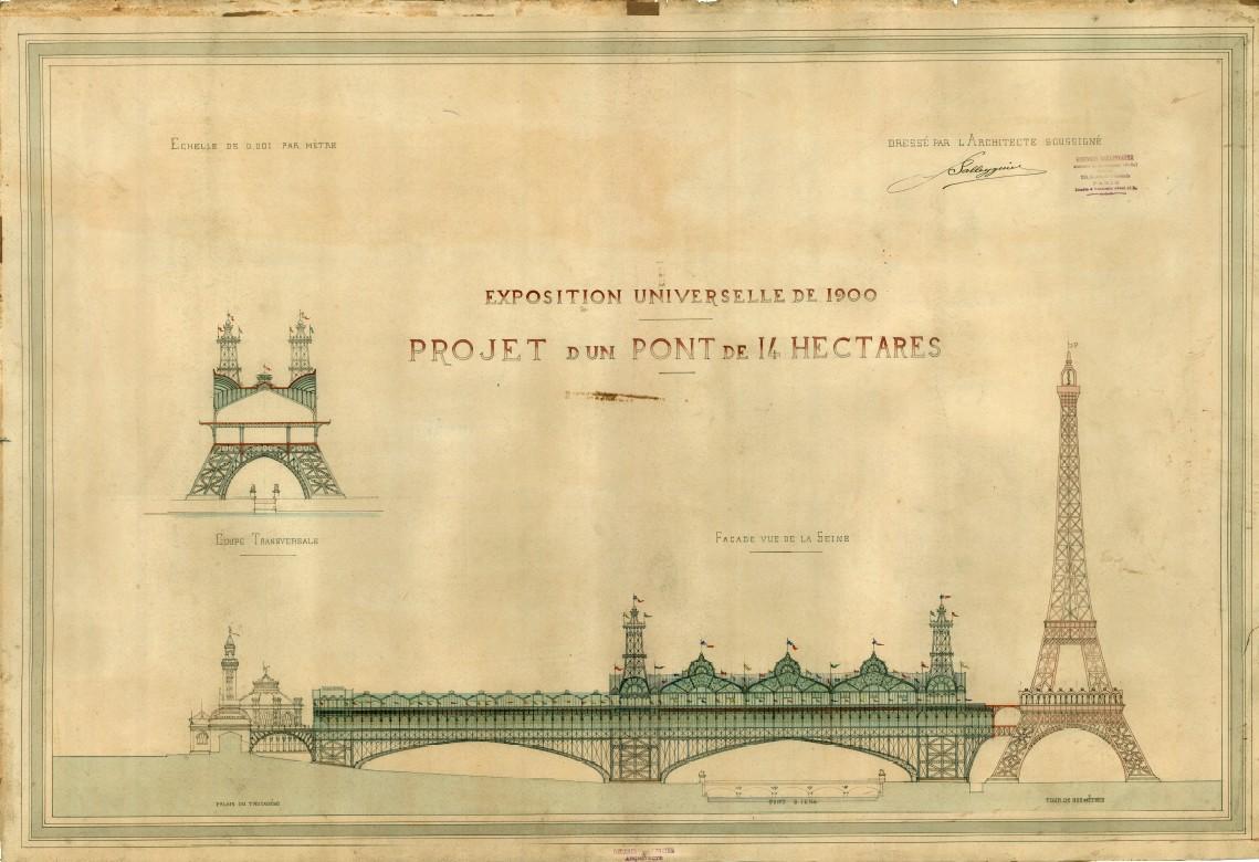 Plan d'ensemble du projet de pont triomphal