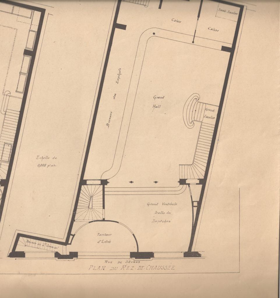 Plan du siège de la Société Générale en 1902