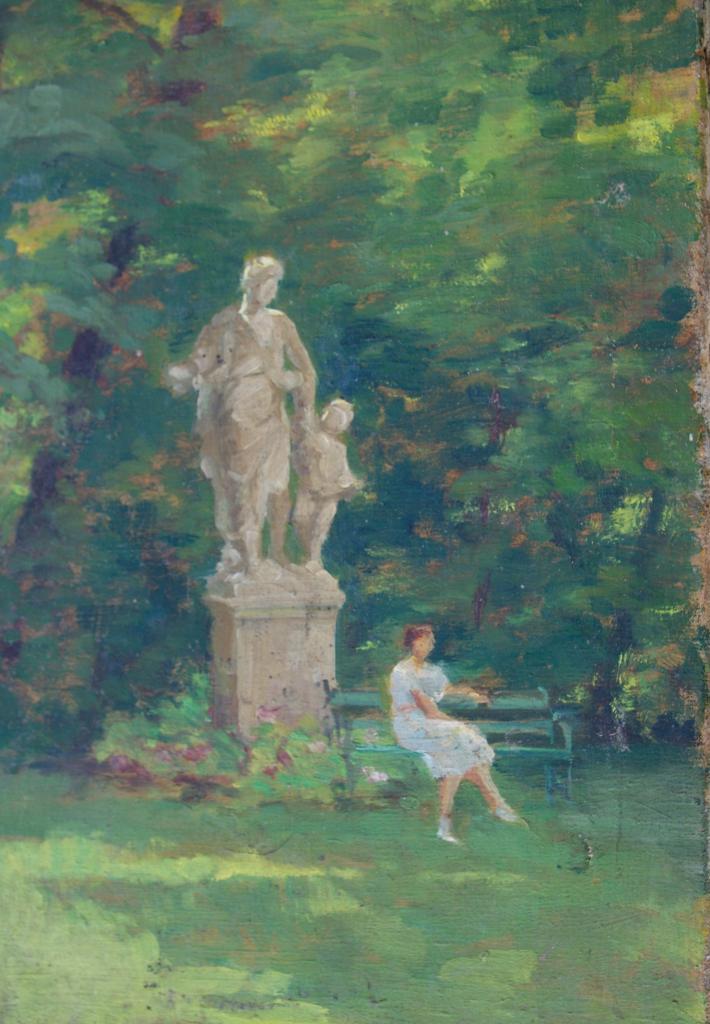 Statue d'Aphrodite dans le parc de Quetigny