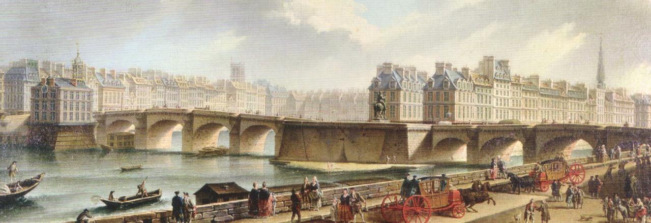 Vue du quai Conti 1772 par Raguenet