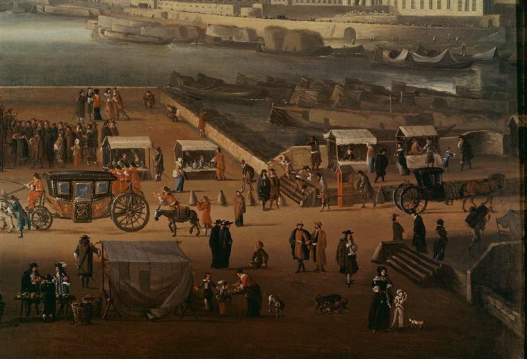 vue sur le Pont-neuf au 17è siècle