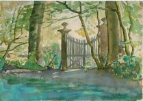 1921 8 sept portail vue du parc